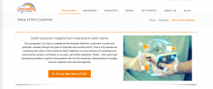 meaningcloud Voice of customers solution