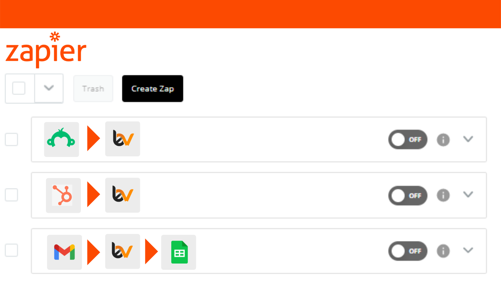 Edit and Create New Zaps