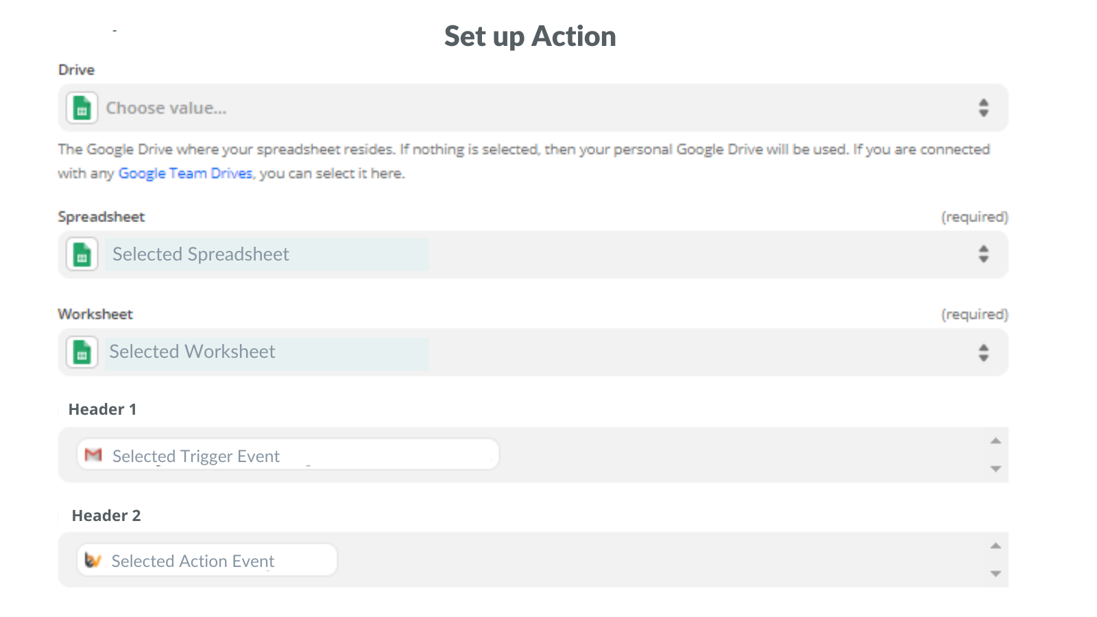 Set up Action